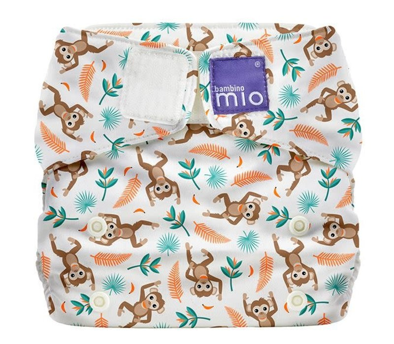 MIOSOLO all-in-one reusable nappy spider monkey