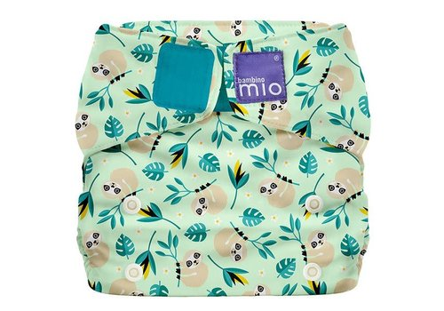 Bambino Mio MIOSOLO all-in-one reusable nappy swinging sloth