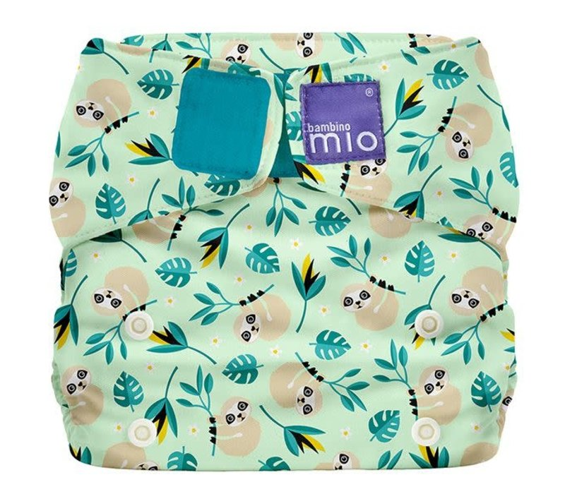 MIOSOLO all-in-one reusable nappy swinging sloth