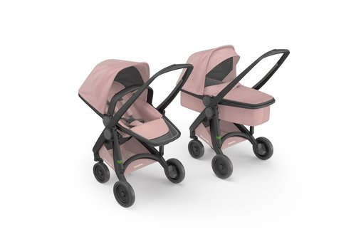 Greentom 2-in-1 Carrycot & Reversible Black/Blossom