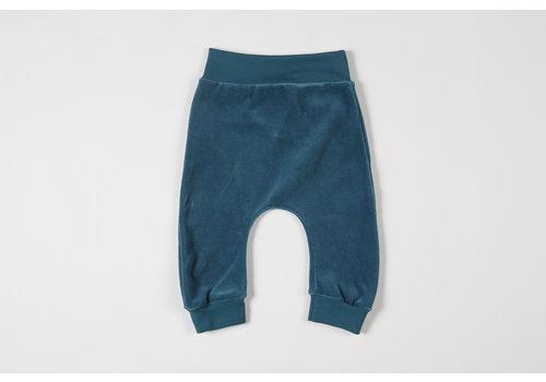 mundo melocotón Baggy pants organic velvet teal