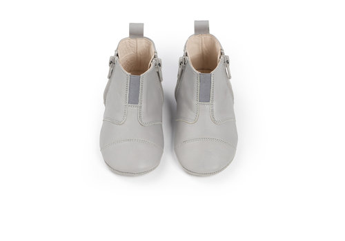 Dusq First Steps Shoe Leather Cloud Grey