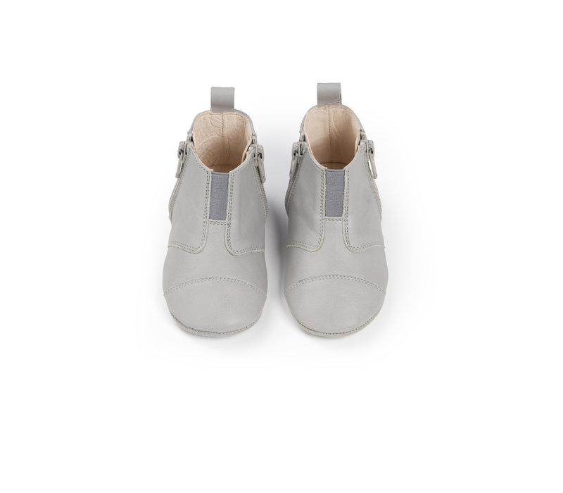 First Steps Shoe Leather Cloud Grey