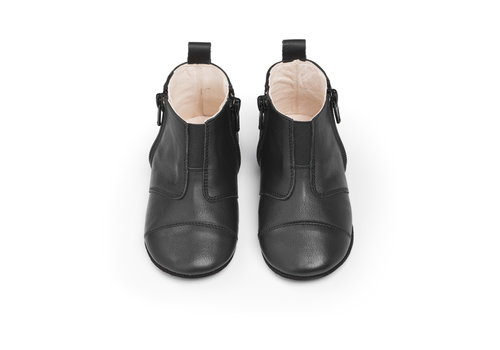 Dusq First Steps Shoe Leather Night Black