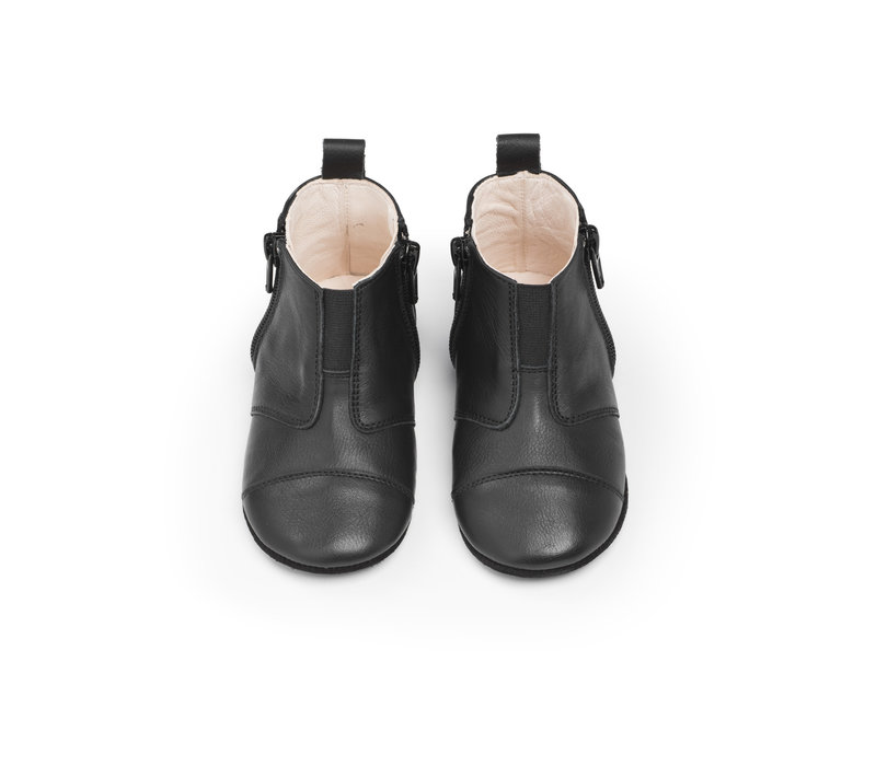 First Steps Shoe Leather Night Black