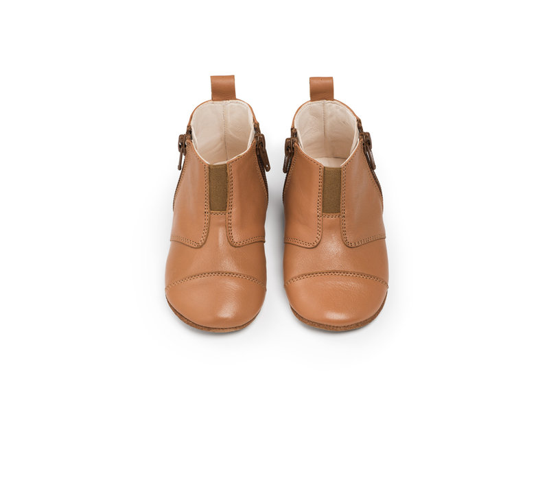 First Steps Shoe Leather Sunset Cognac