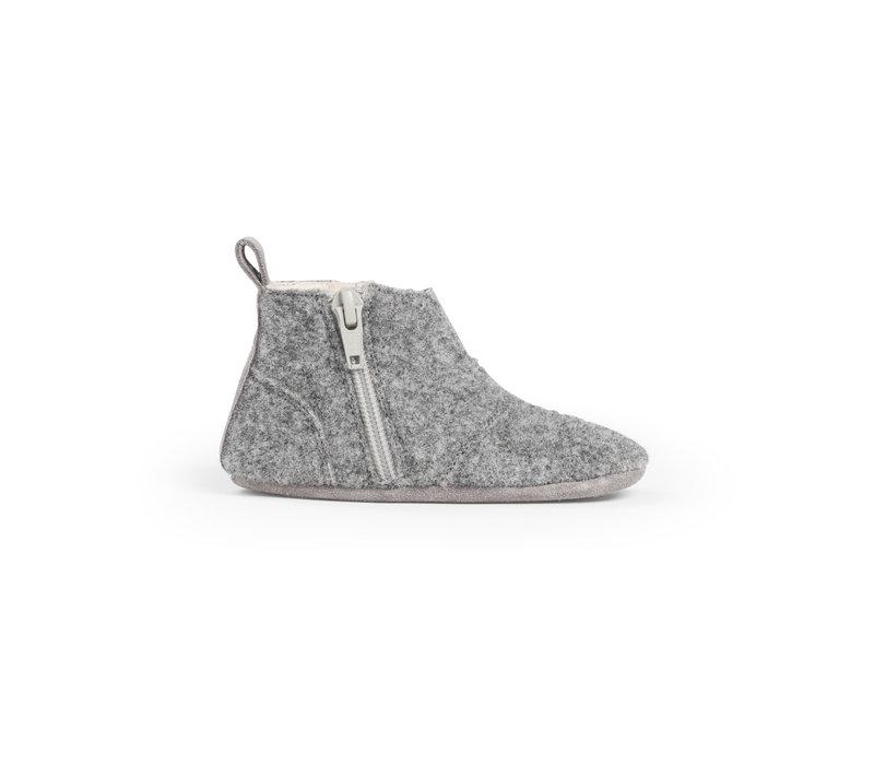 First Steps Shoe Wool Misty Grey