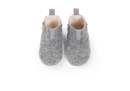 Dusq First Steps Shoe Wool Misty Grey