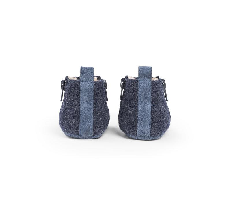 First Steps Shoe Wool Ocean Blue
