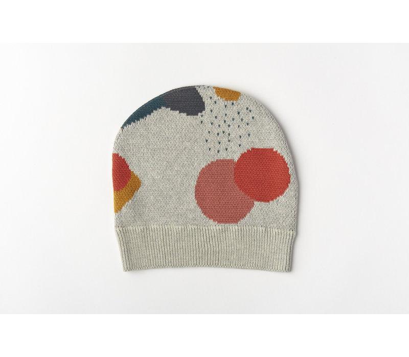 Beanie organic knitwear jacquard multicolor