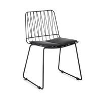 Hippy stool set of 2 black