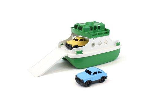 Green Toys Ferryboot met auto's groen