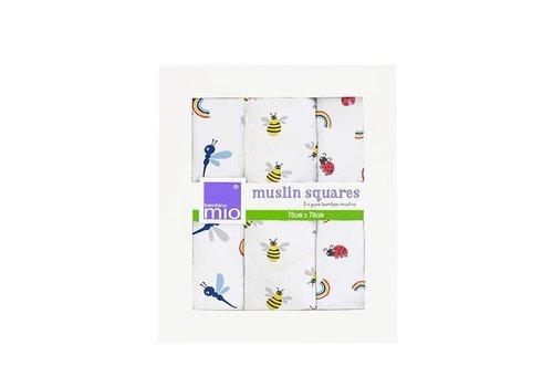 Bambino Mio Muslin squares 3 pack rainforest