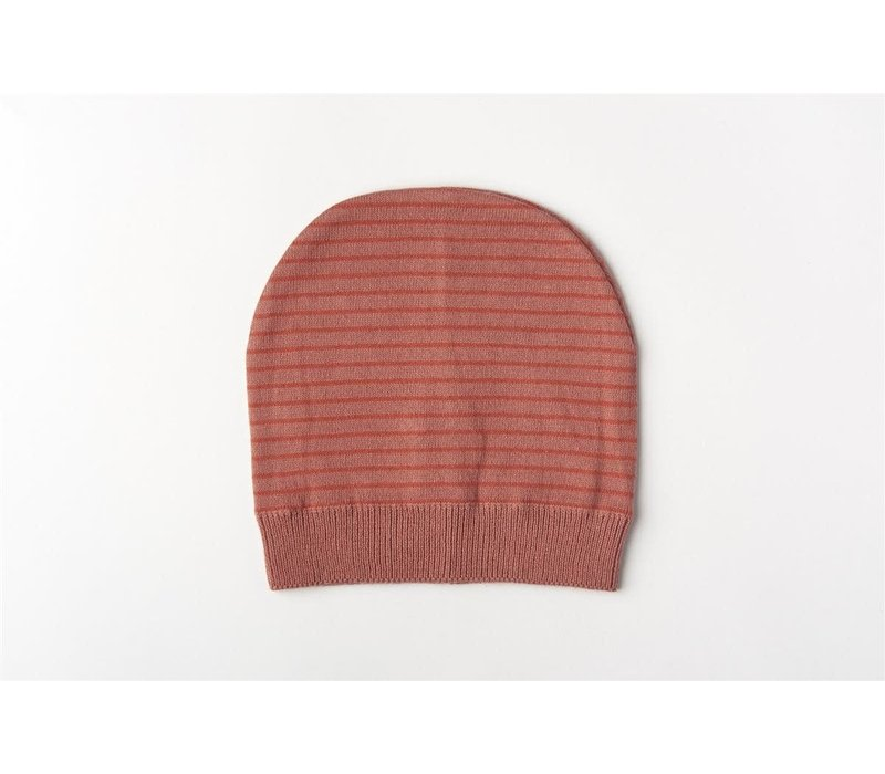 Muts organic knitwear stripes La Línea blush
