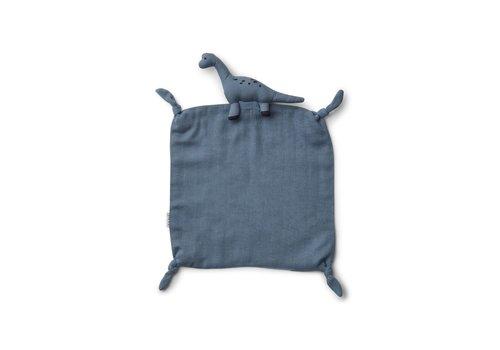 Liewood Agnete cuddle cloth Dino blue wave