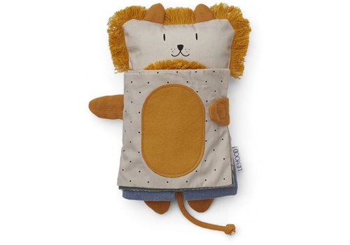 Liewood Karlo sensory book Lion mix
