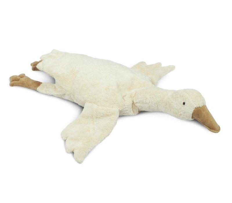 Cuddly animal Goose large white