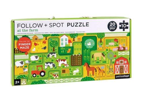 Petit Collage Puzzel - Op de boerderij