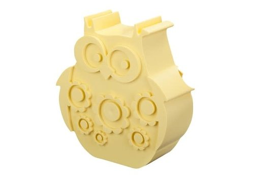 Blafre Lunch box owl  light yellow