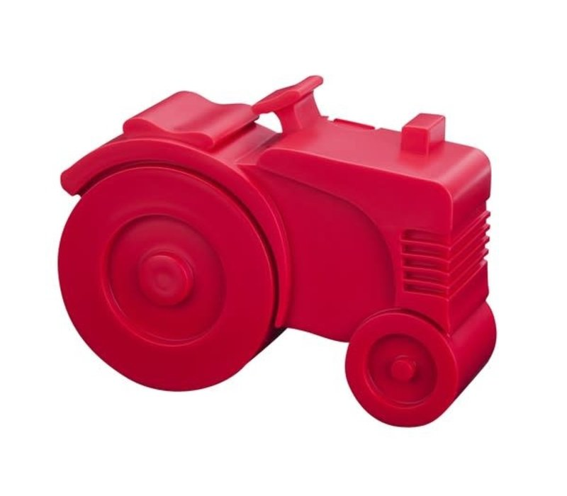Lunch box tractor red