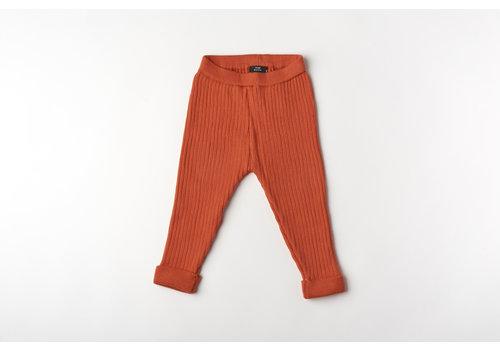 mundo melocotón Legging organic knitwear chili