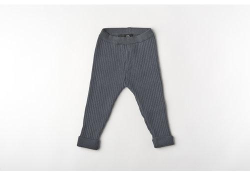 mundo melocotón Legging organic knitwear denim blue