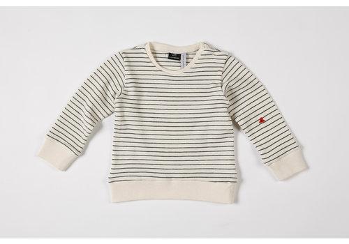 mundo melocotón Sweatshirt Seaqual Siska La Línea off-white