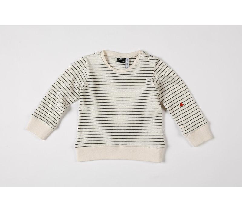 Sweatshirt Seaqual Siska La Línea off-white