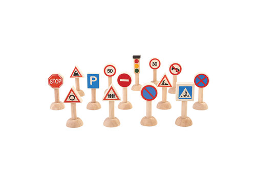 PlanToys Verkeersborden en lichten Set