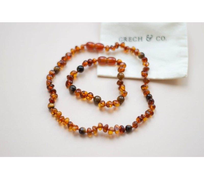 Children's Baltic Amber Necklace- FIERCE