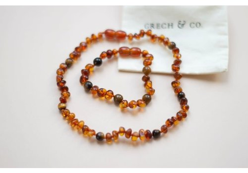 Grech & Co Adult Baltic Amber Necklace- FIERCE