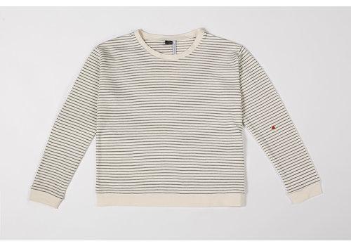 mundo melocotón Sweatshirt Mom Seaqual Siska La Línea off-white