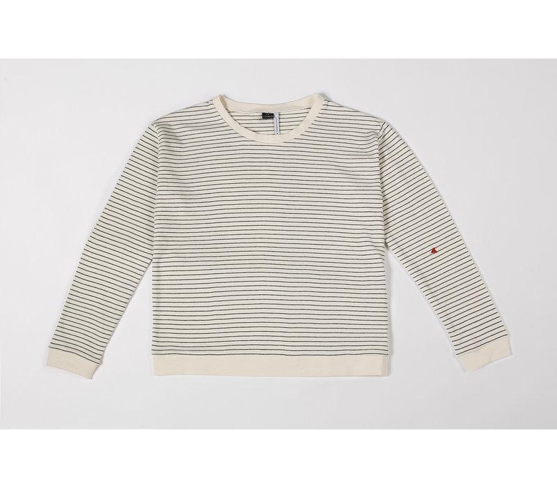 Sweatshirt Mom Seaqual Siska La Línea off-white