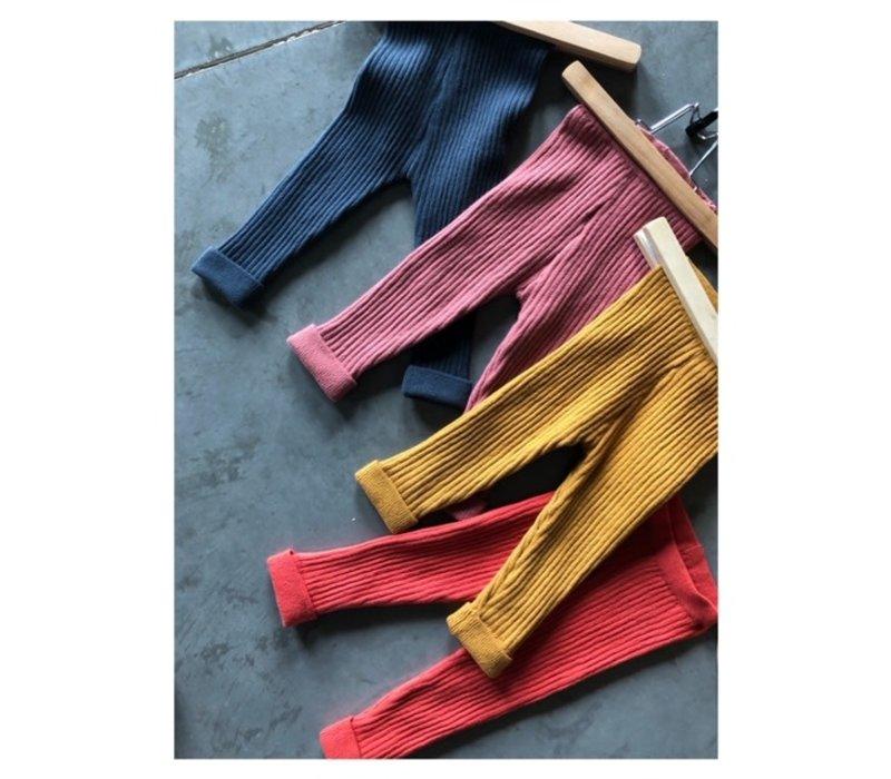 Legging organic knitwear chili
