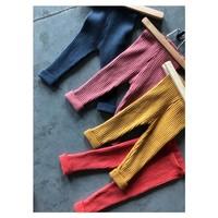 Legging organic knitwear denim blue