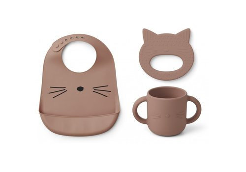 Liewood Copy of Gene silicone cup - 2 pack Cat dark rose