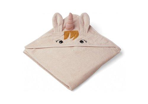 Liewood Augusta hooded towel Unicorn sorbet rose