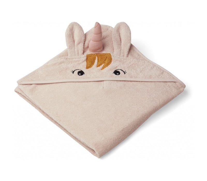 Augusta hooded towel Unicorn sorbet rose