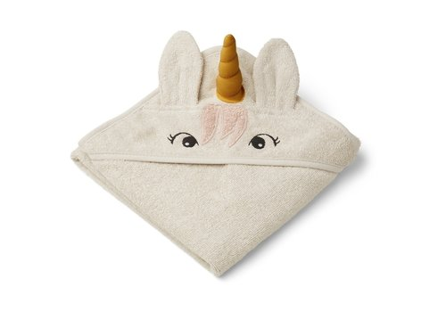 Liewood Albert hooded towel Unicorn sandy