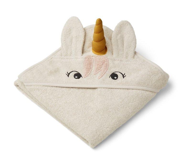 Albert hooded towel Unicorn sandy
