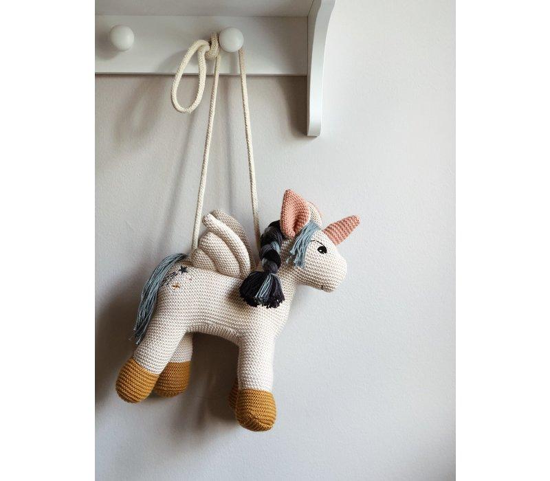 Schoudertasje Nancy Unicorn sandy