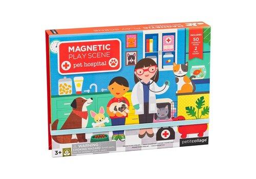 Petit Collage Magnetische speelset - Dierenkliniek