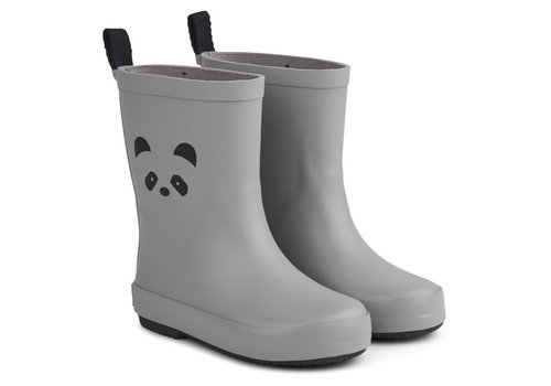 Liewood Rio rain boots Panda dumbo grey