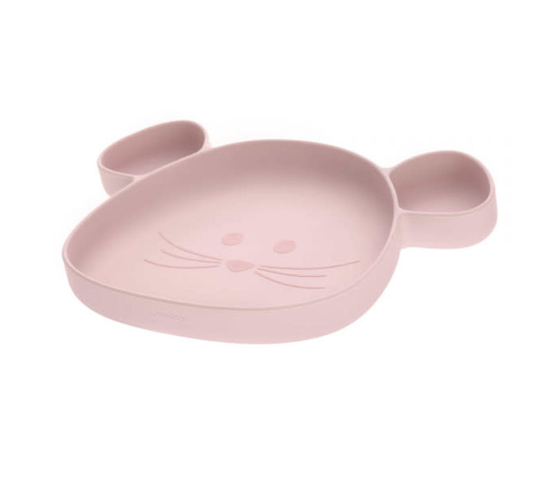 Section Plate Silicone Little Chums Mouse rose