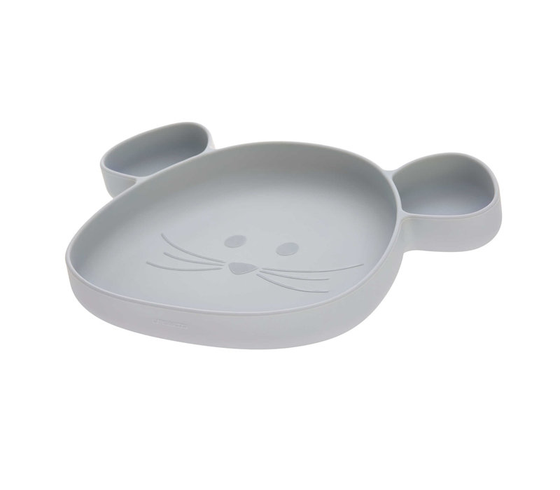 Section Plate Silicone Little Chums Mouse grey