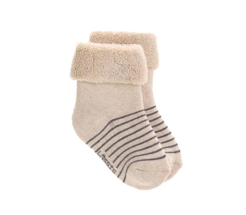 Newborn Socks GOTS 3 grey