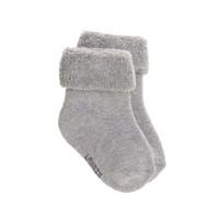 Newborn kousen GOTS 3 grey