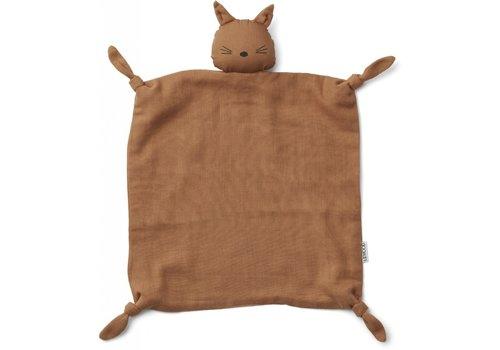 Liewood Agnete cuddle cloth Cat terracotta
