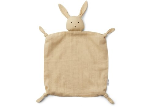 Liewood Agnete cuddle cloth Rabbit smoothie yellow