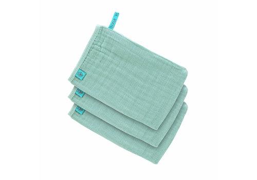 Lässig Muslin Wash Glove Set 3 pcs mint